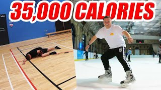 How I burn 5,000 calories EVERYDAY  ( 35,000 CALORIE CHALLENGE PART 2 )