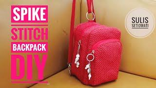 Crochet || spike stitch backpack