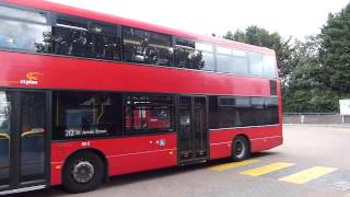 preview picture of video 'Route 212 London Bus at Chingford Station 30 August 2014'