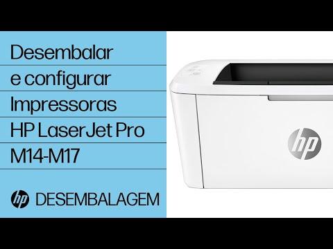 Como desembalar e configurar as impressoras HP LaserJet Pro M14-M17