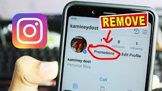 How to remove Promote button from Instagram