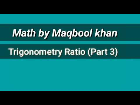 Introduction to trigonometry (MATH)