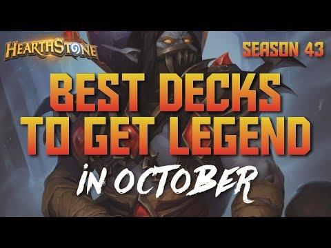 Hearthstone - Top Decks to Climb Ladder in October 2017 (Season 43) (Report #64)
