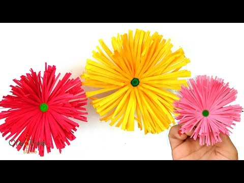 How to make easy and beautiful paper flower making paper flowers how to make easy and beautiful paper flower making paper flowers step by step diy paper crafts mightylinksfo