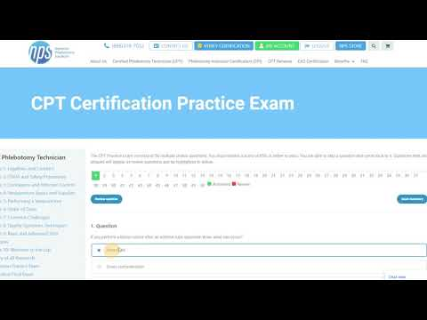 Certified Phlebotomy Technician CPT Certification Preview ...