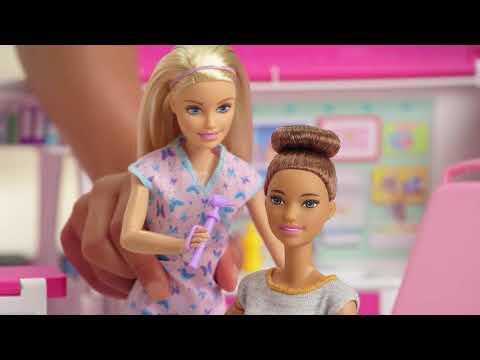 Barbie Jeu d'ambulance 2 en 1 (avec son et lumière) (45.50cm)