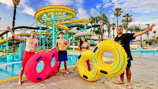 OVERNIGHT AT WATER PARK! (Security Catches Us)