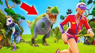 ESCAPE The DINOSAURS In FORTNITE! (Escape Map)