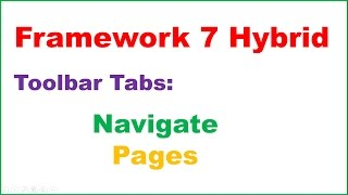Framework 7 Hybrid Apps Ep.03 - Tab Navigation With Pages