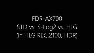 [4K HDR HLG] Sony FDR-AX700. Standard vs. S-Log2 vs. HLG at night