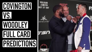 UFC Fight Night: Covington vs. Woodley Full Card Predictions
