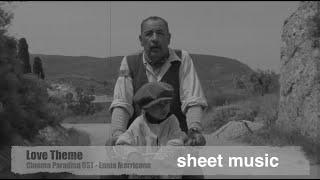 Love Theme - Cinema Paradiso OST / Ennio Morricone - music cover+sheet music