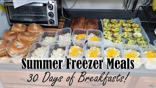 MAKE-AHEAD FREEZER BREAKFASTS || 3-HOUR FREEZER COOKING SESSION