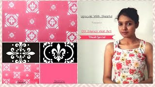 DIY Stencil A Feature Wall Tutorial | How To Stencil Damask Wall Art | DIY Low Cost Wall Art