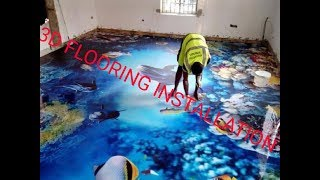 3d flooring installation