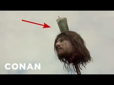 """Accidental Beverage Cameos On """"Game Of Thrones"""" - CONAN on TBS (видео)"""