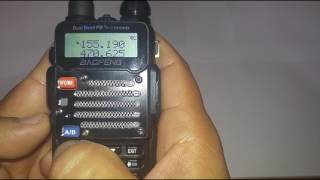 Manually set a Baofeng uv-5rv2+/ Police Scanner/ Ham Radio