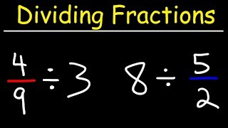 Dividing Fractions With Whole Numbers - The Simple Way!