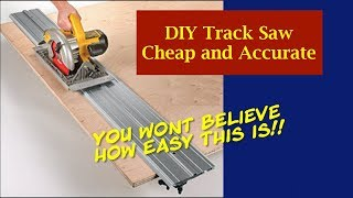 DIY Circular Saw Track Saw Guide   How To