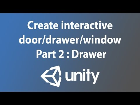 [Unity3d tutorial] Create interactive door/drawer/window - Part 2 : Drawer youtube video