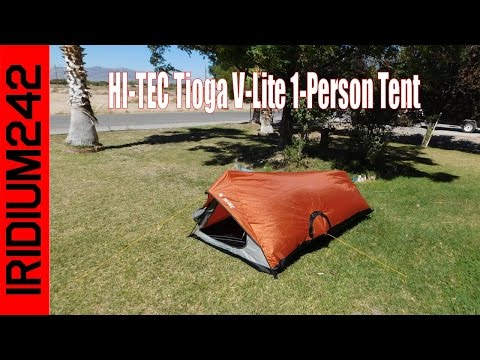 HI TEC Tioga V Lite 1 Person Tent Review And Set Up!