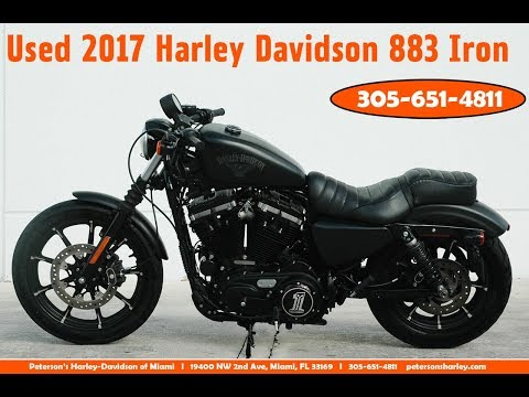Used 2017 Harley Davidson Sportster XL883 Iron Motorcycle For Sale Miami Florida
