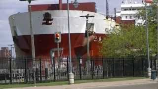 preview picture of video 'Richelieu Great Lakes Freighter in Soo Locks, Sault Ste. Marie, Michigan'