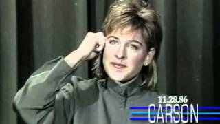 Download Video Ellen Degeneres Funny 1st Appearance Doing Stand Up Comedy on Johnny Carson's Tonight Show MP3 3GP MP4