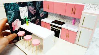 DIY Miniature Cardboard House #12    A Modern Kitchen
