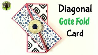 Diagonal GATE FOLD card - DIY Tutorial by Paper Folds ❤️