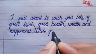 Birthday wishes in many ways | Birthday wishes in english | Cursive handwriting | Eng Teach