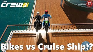 The Crew 2: PC - Multiplayer Fun! Dirt Bike and Harley on Cruise Ship!?