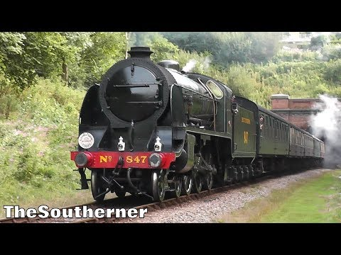 Southern Railway S15 no.847 thunders through Sharpthorne Tun…