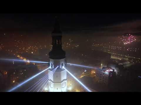 Wideo: Pokaz Laserów - Głogów wita Nowy Rok 2021