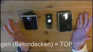 Funk-Klingel - Türklingel Kit - 1 Sender + 2 Empfänger - von 1byone
