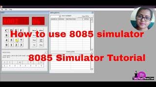 8085 simulator tutorial