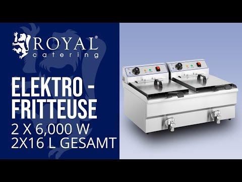 Fritteuse - 2 x 16 Liter - Starkstrom