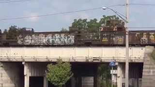 Rail Train Going Backwards