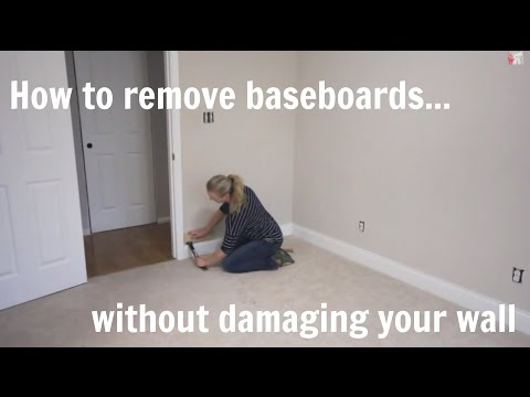 How to remove baseboard without damaging wall or molding