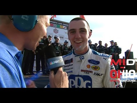 Cindric on Mid-Ohio win: 'Man it feels good -- two in a row!'
