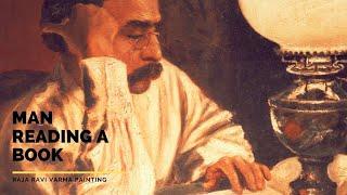 Man reading a Book by Raja Ravi Varma