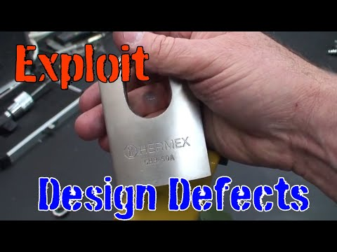 (15) Defeat Hermex Disc Detainer Padlock by Exploiting a Design Defect
