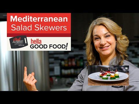 Mediterranean Salad Skewers