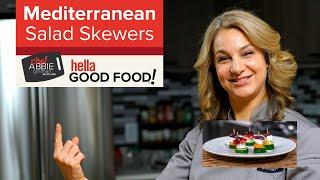 BEST HEALTHY APPETIZER - Greek Salad Skewers - Vegetarian Appetizers