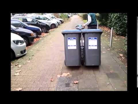 Zallys M4 zieht 240 Liter Mülltonnen sowie 1000 Liter Müllcontainer