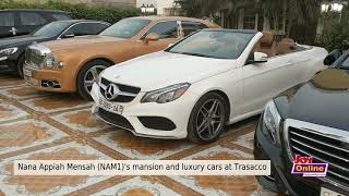Nana Appiah Mensah (NAM1)'s mansion and luxury cars at Trasacco (11-1-19)