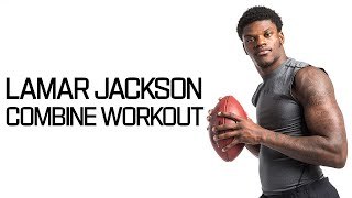 Every Lamar Jackson Throw During Workout! | NFL Combine Highlights - dooclip.me