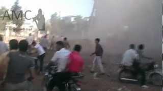 preview picture of video 'الباب:صور أولية لموقع القصف على المنشيّة 19/10/2012'