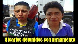 Sicarios lloran al ser detenidos con armamento