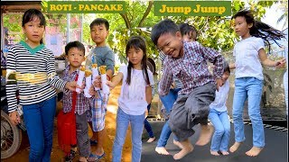 Travel around Krong Siem Reap in Cambodia | Kids Play and Eat Roti Pancake in front of Angkor Wat